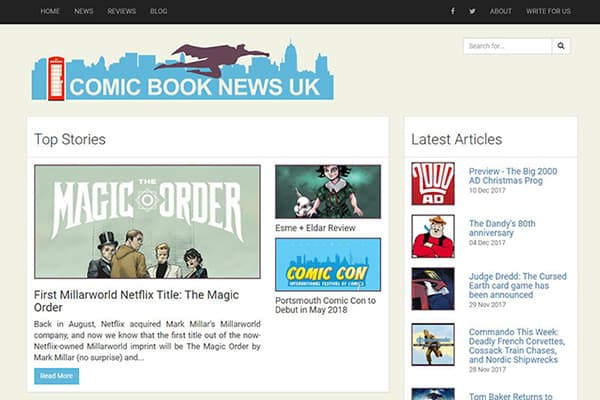 Changes to Comic Book News UK