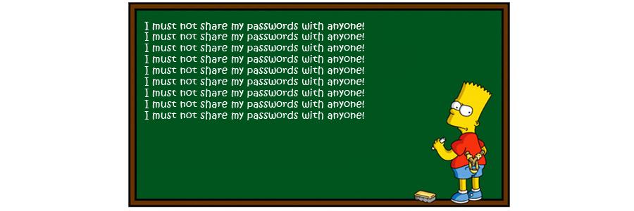 MP's sharing passwords